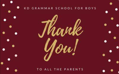 Thank You Parents!