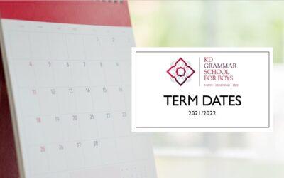 Term Dates 2021/2022